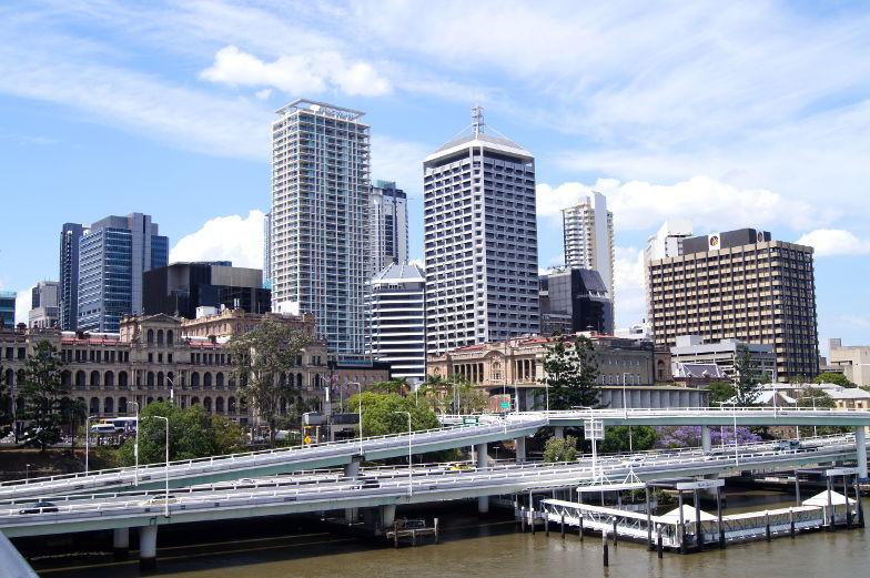 australien brisbane skyline