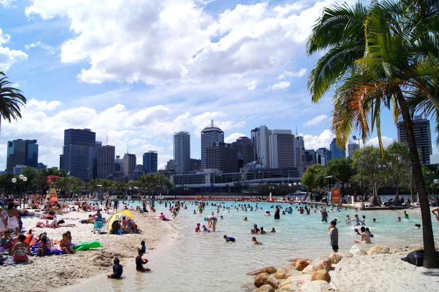 australien brisbane southbank strand