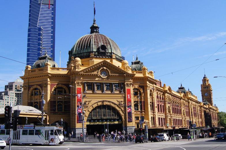 Melbourne Sehenswuerdigkieten Flinders Street Station