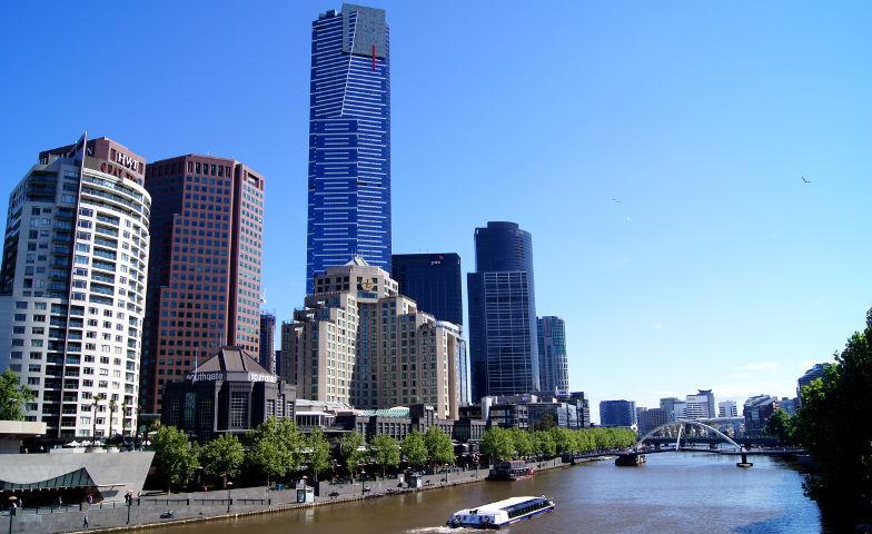 Blick auf den Yarra River und Southbank