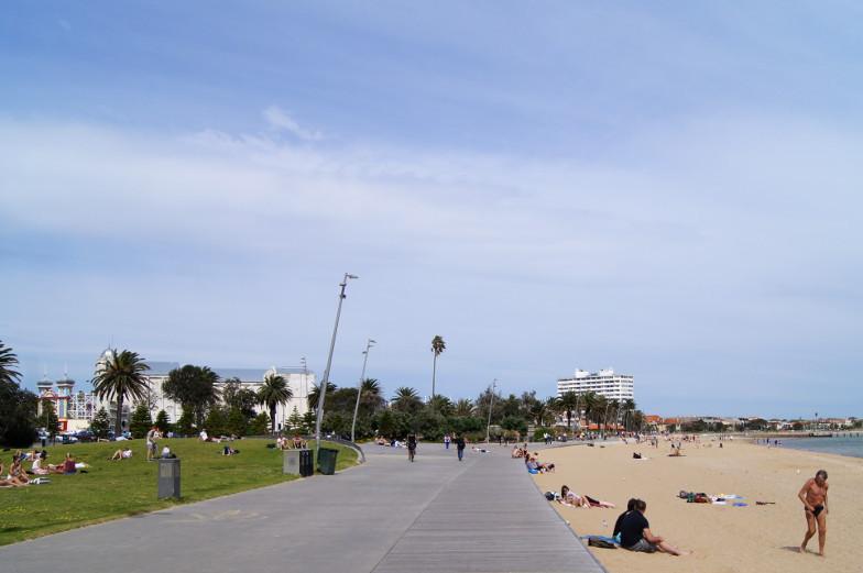 St. Kilda Strand Sehenswuerdigkeiten Melbourne Australien