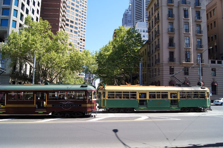Melbourne Sehenswuerdigkeiten kostenlose Tram