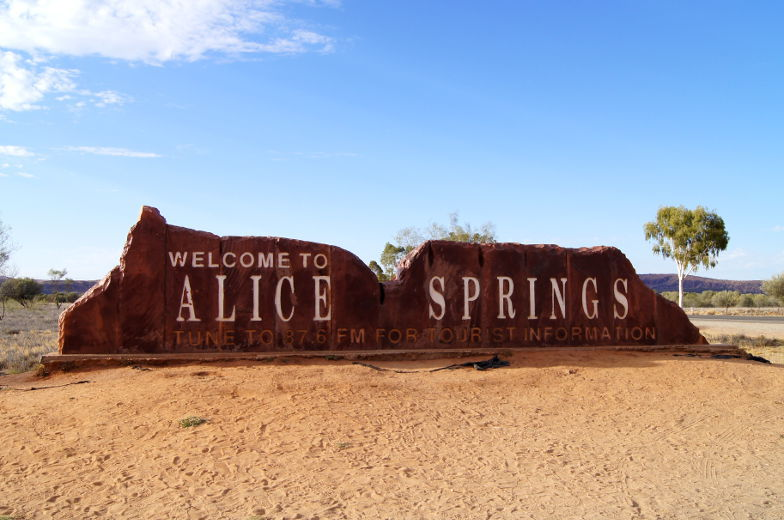 Alice Springs Start der Outbacktour