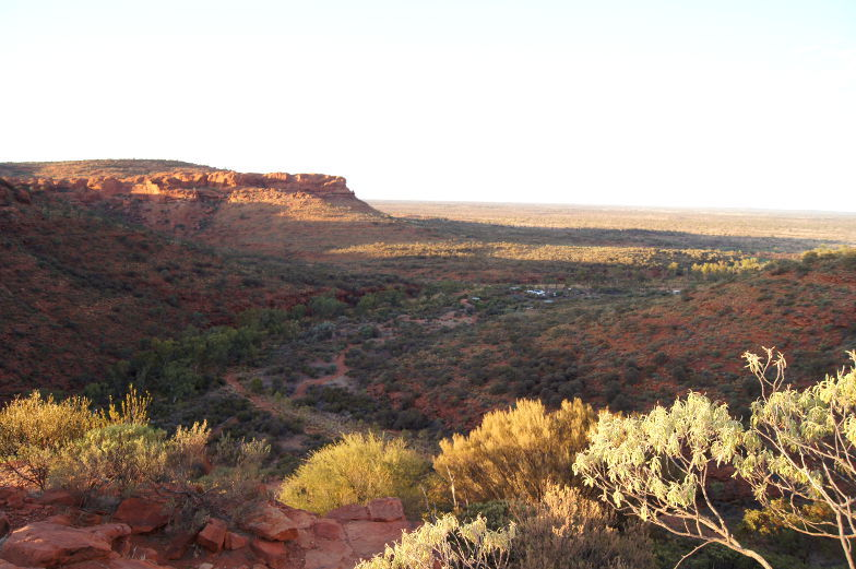 australien outback kings canyon ausblick