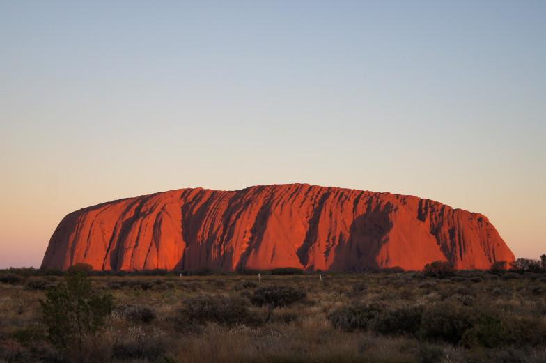 australien outback uluru rot sunset boulevard