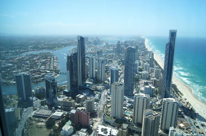 Surfers Paradise Aussichtsterasse Blick auf die Stadt