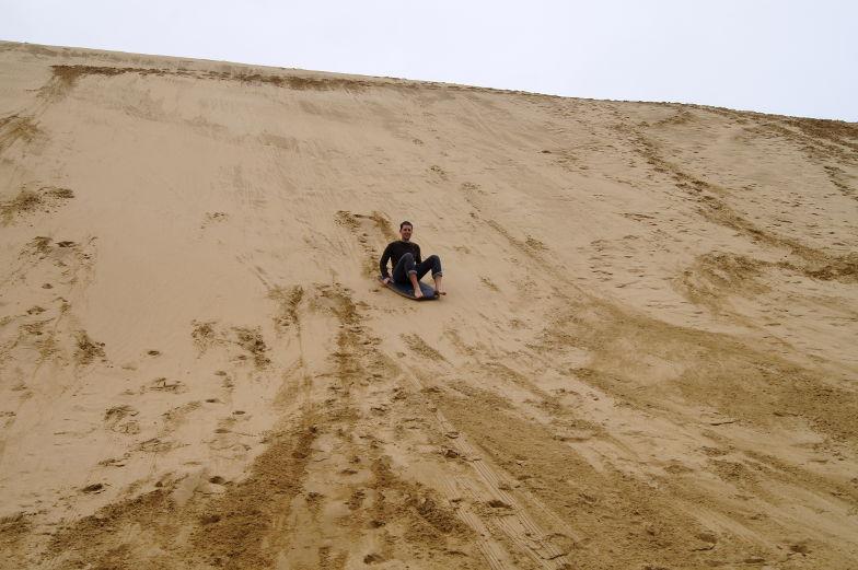 neuseeland cape reinga sandboard