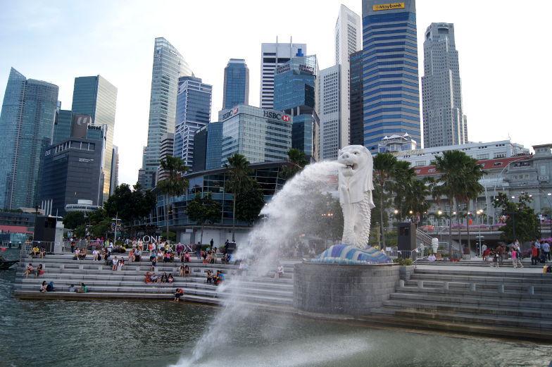 Singapur Sehenswuerdigkeit Merlionbrunnen