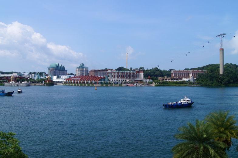 Singapur Tipps Sentosa Insel Ausblick und Sehenswuerdigkeiten