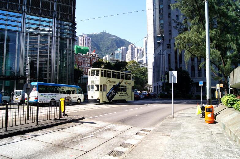In Hongkong gibt es mehrere Trams