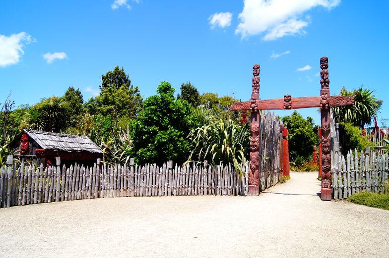 Themenbereich Maori im Hamilton Garden
