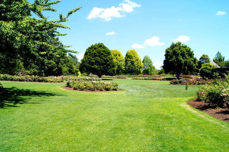 Ein großangelegter Rosengarten im Hamilton Garden