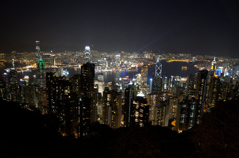 Peak Ausblick auf die Wolkenkratzer in Hongkong Tipp