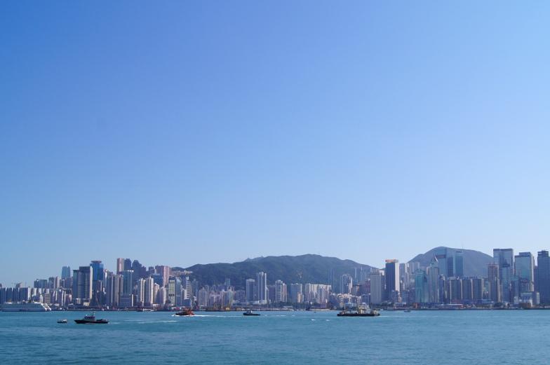 Blick auf Hongkongs Wolkenkratzer