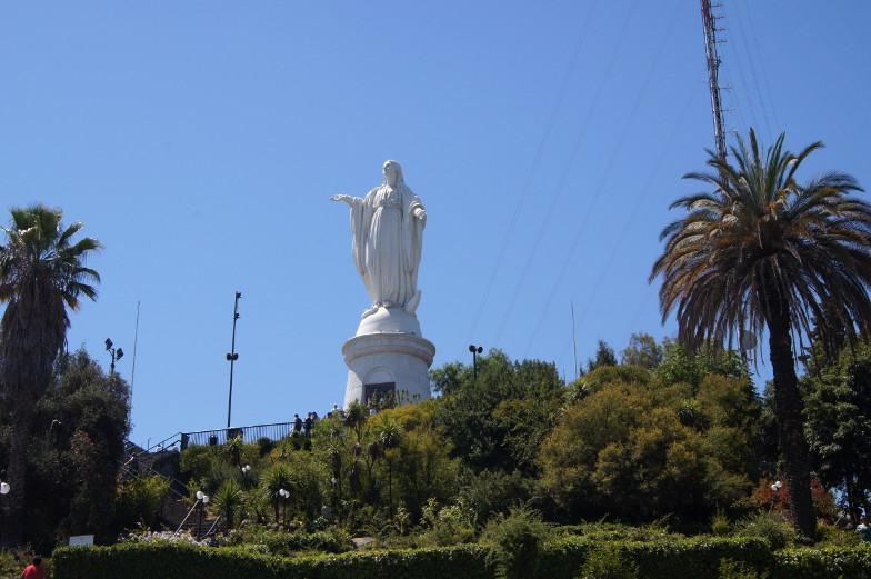 Marienfigur auf dem San Cristobal Santiago de Chile
