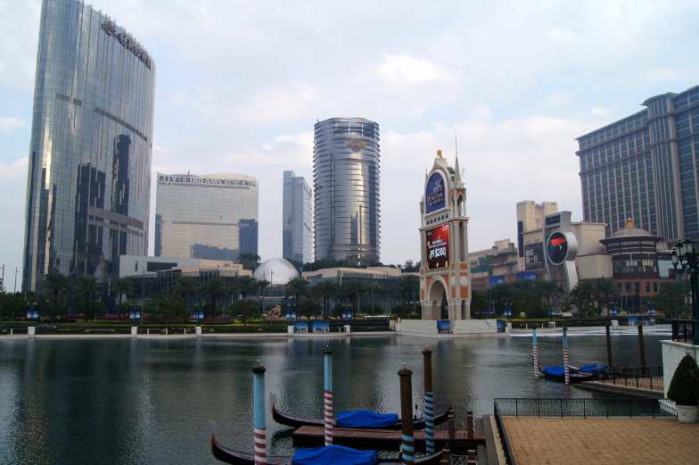 Blick auf City of Dreams in Macau