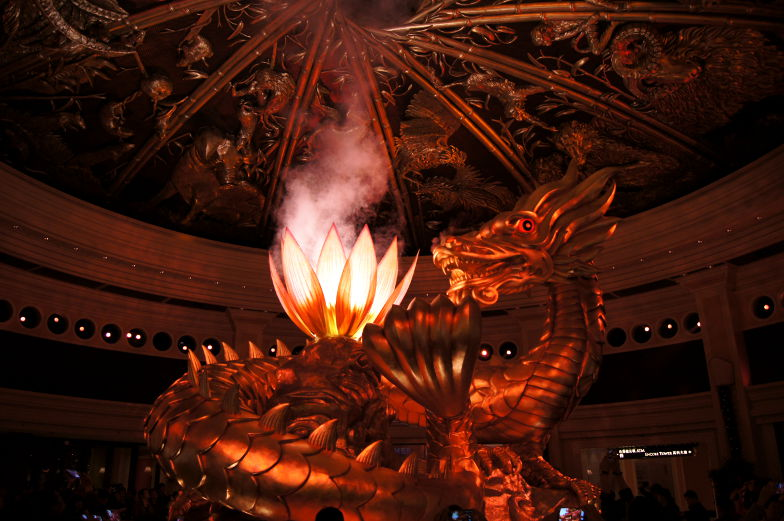 Im Wynn Macau ist der Dragon of Fortune ein Highlight