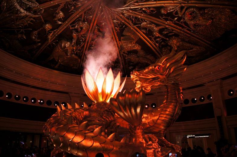 Im Wynn Macau ist der Dragon of Fortune ein Highlight