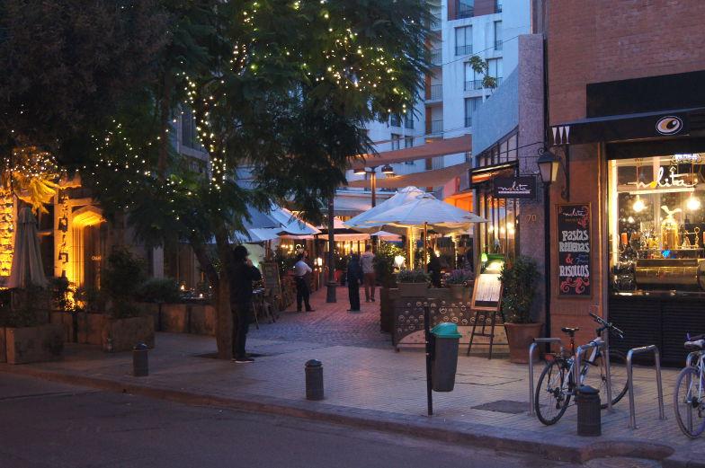 Grosse Restaurantauswahl in Lastarria Santiago de Chile