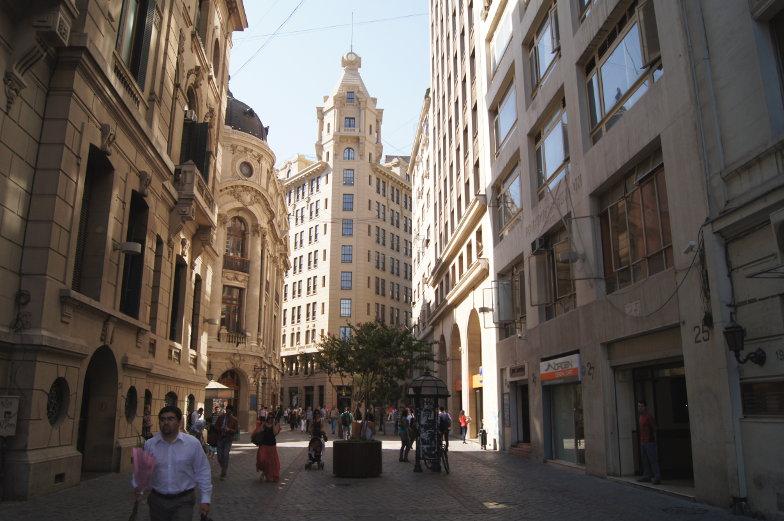 Nueva York Gasse in Santiago de Chile