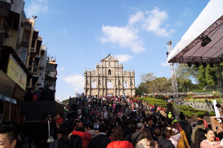 Treppenaufstieg zur Pauluskirche in Macau