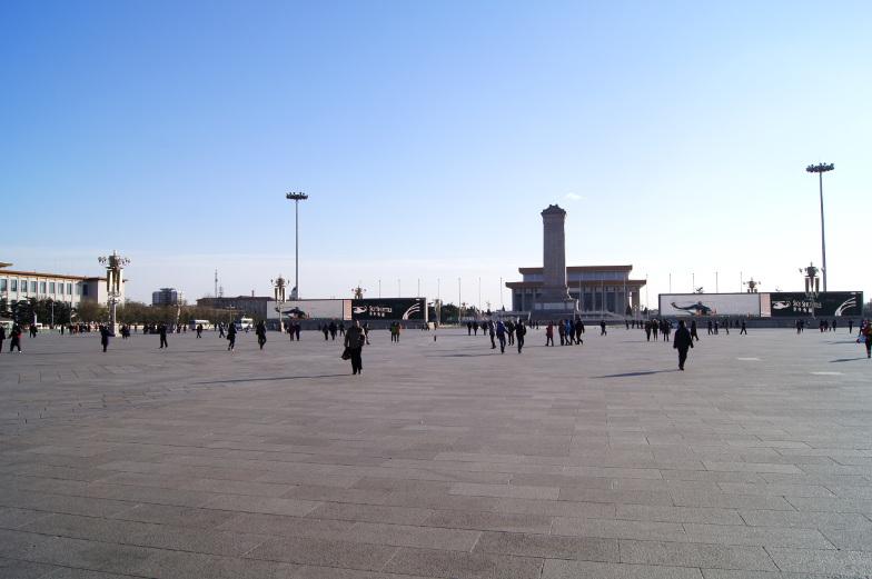 Platz des himmlischen Friedens ist einfach riesig in Peking