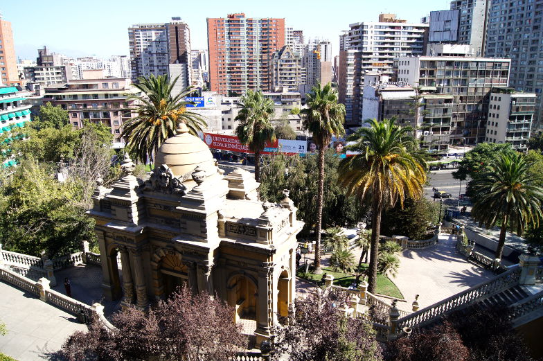 Eingang von Santa Lucia Stadthuegel Santiago de Chile