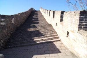 Treppen Chinesische Mauer Mutianyu Sehenswuerdigkeiten Peking