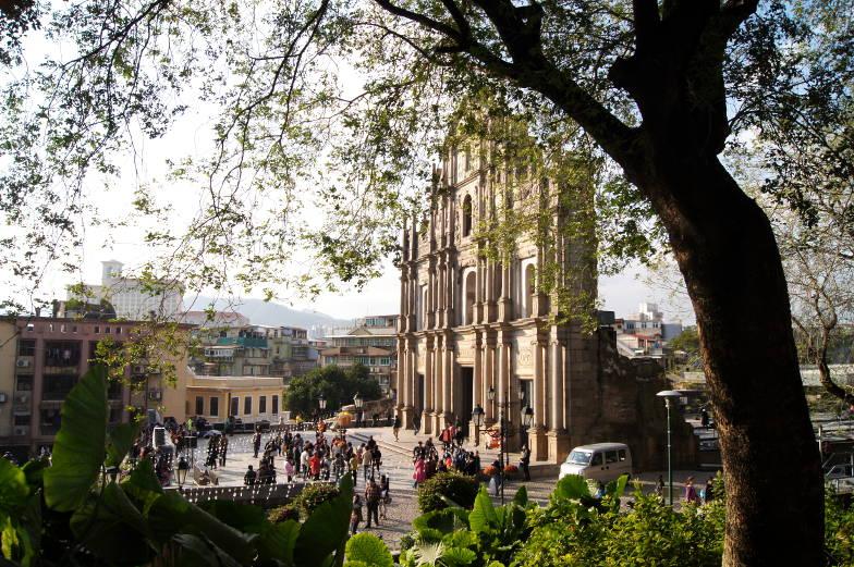 Die Pauluskirche in Macau besteht nur noch aus der Vorderseite