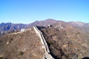 Steile Wege Chinesische Mauer Mutianyu Peking