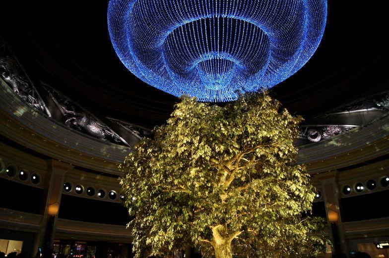 Ein anderes Highligt im Wynn Hote Macaul ist der Tree of Prosperity