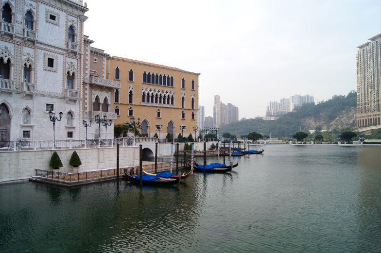 Gondeln vor dem Venetian Cotai Macau