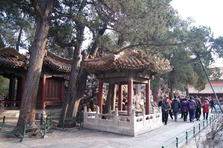 Sehenswuerdigkeiten Pavillon in der verbotenen Stadt Peking