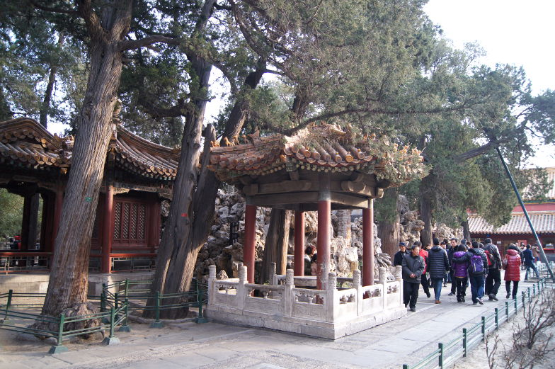 Pavillon in der verbotenen Stadt Peking