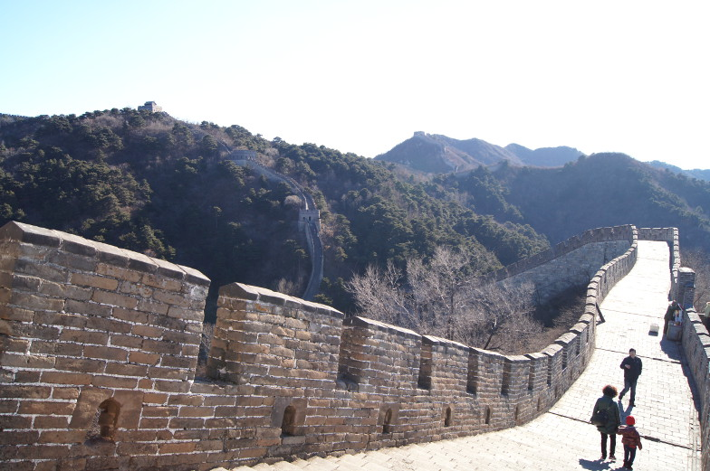 Weg Chinesische Mauer Mutianyu Peking