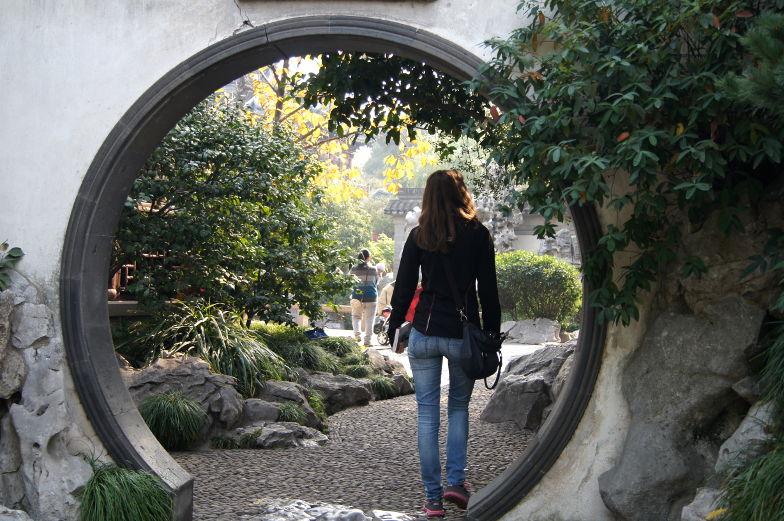 Spazierwg durch den Yu Garden Shanghai