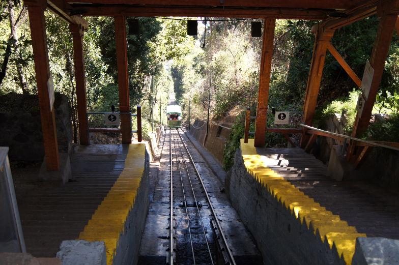 Cerro San Cristobal Funicular Ausblick Santiago