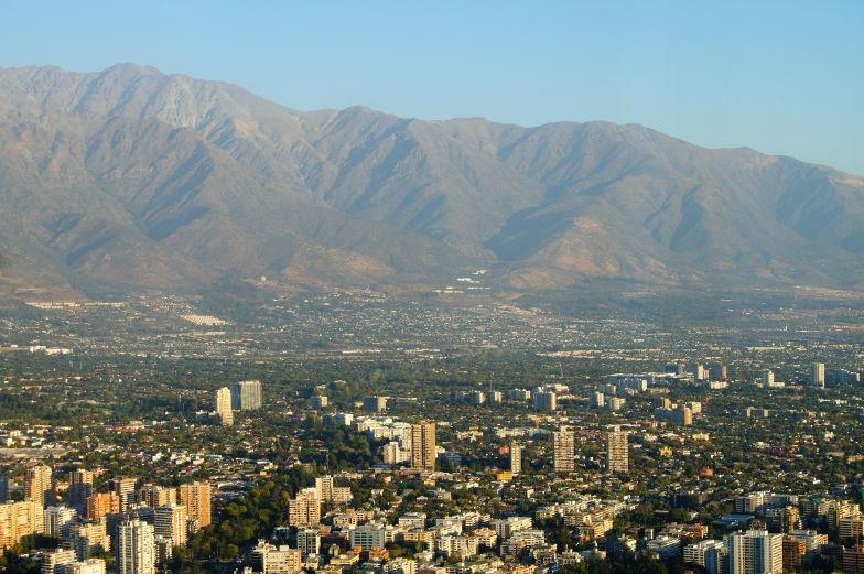 Costanera Blick auf Anden Ausblick Santiago