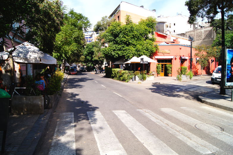 In Lastarria Santiago de Chile gibt es an jeder Ecke ein Restaurant