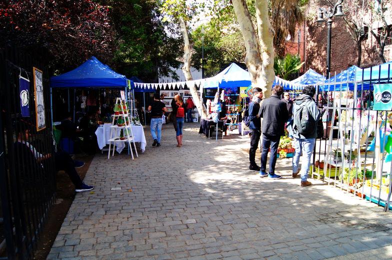 Verkaufsstaende in Lastarria Santiago de Chile