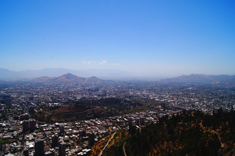San Cristobal 360 Grad Blick Santiago Chile