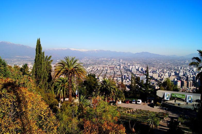 San Cristobal Aussicht Ausblick Santiago