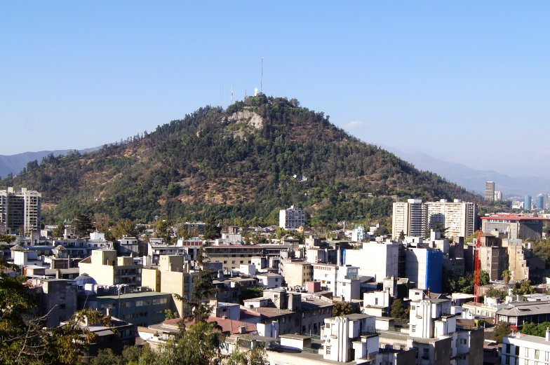 Stadtberg San Cristobal in Santiago de Chile