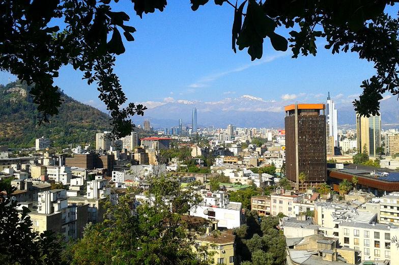 Santa Lucia Blick auf Santiago Chile