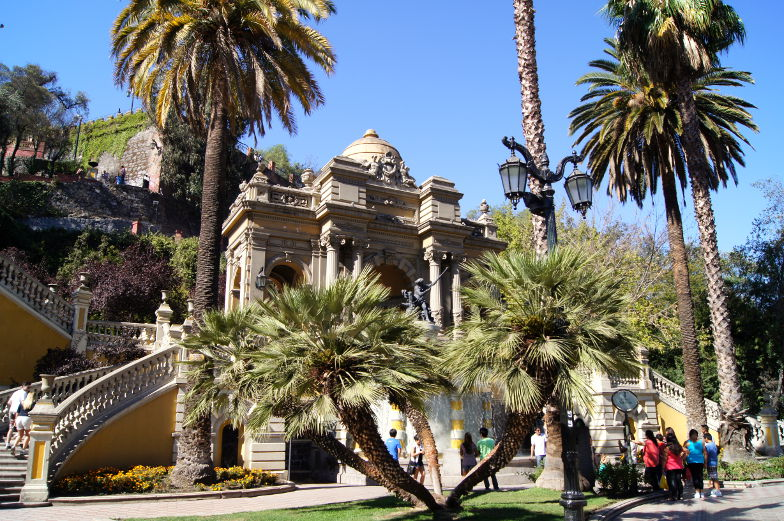 Santa Lucia Ausblick auf Santiago de Chile
