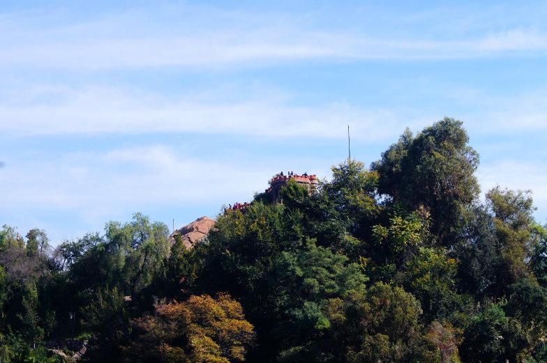 Santa Lucia obere Aussichtsplattform Ausblick Santiago