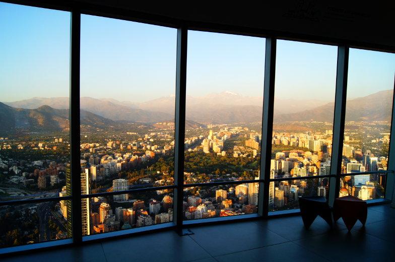 Sky Costanera 360 Gradblick Ausblick Santiago