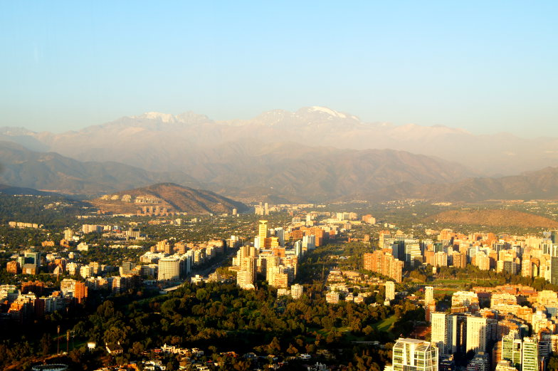 Sky Costanera Aussicht Santiago de Chile