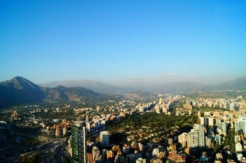 Sky Costanera Berge Ausblick Santiago
