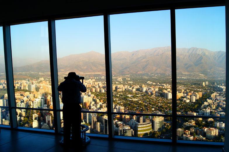 Sky Costanera Panoramablick Santiago